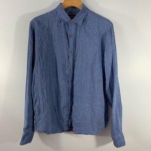 UNTUCKIT . Linen Button Front L/S Shirt . M